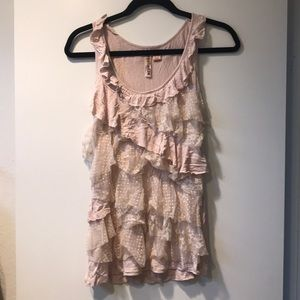 Ruffle Lace Tank Top K2